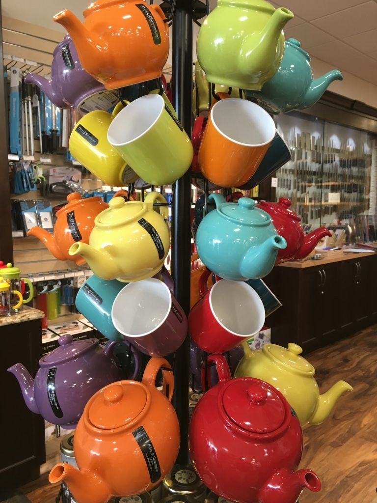 Price & Kensington tea pots are available in 2 cup, 6 cup and 10 cup sizes.  An individual tea pot and matching mug are a perfect #gift for a #tealover !   Visit #WhiskCarolina in #Cary to find gifts under $25.