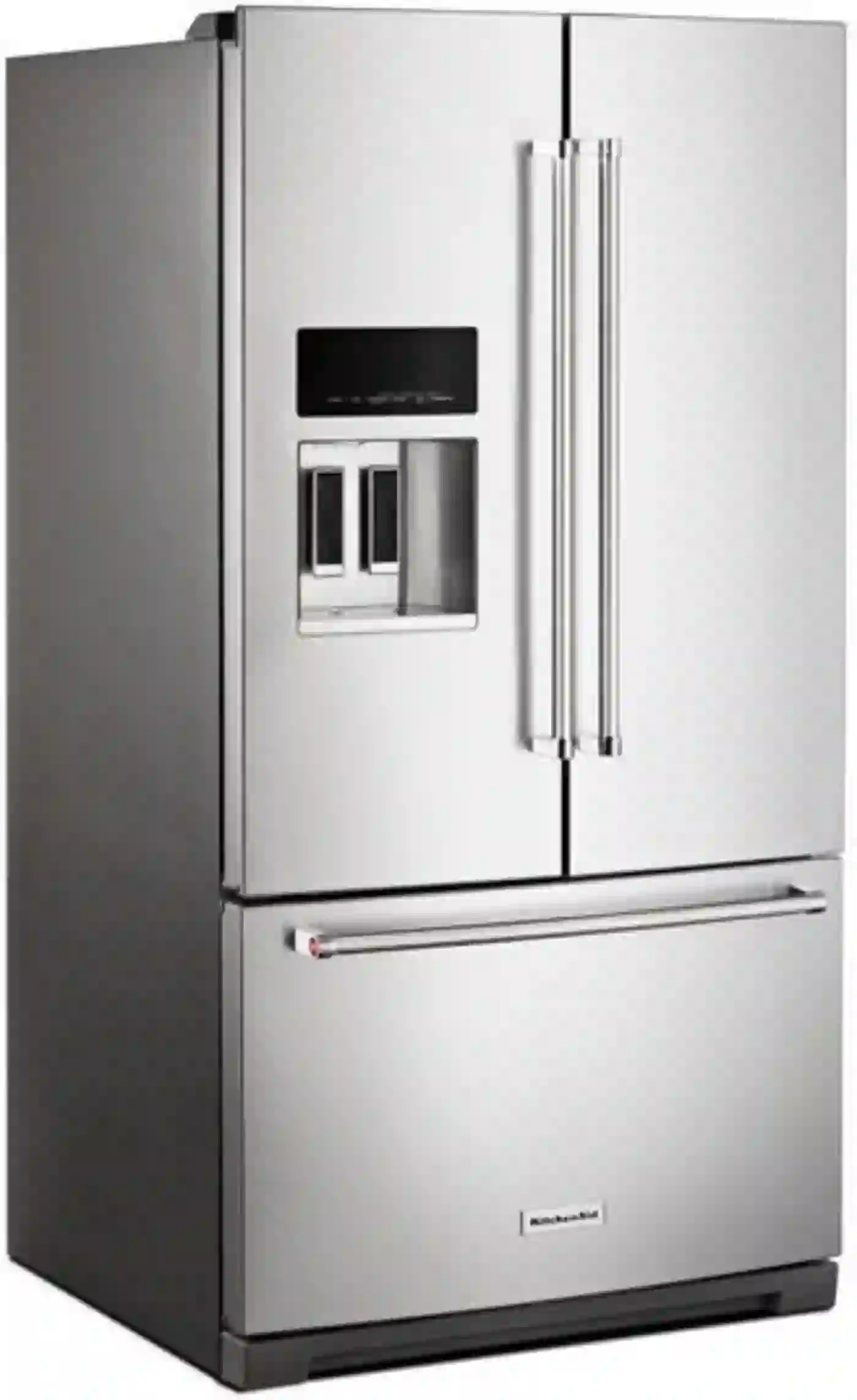 Krff507hps By Kitchenaid French Door Refrigerators Goedekers Com French Door Refrigerator Kitchen Aid French Doors