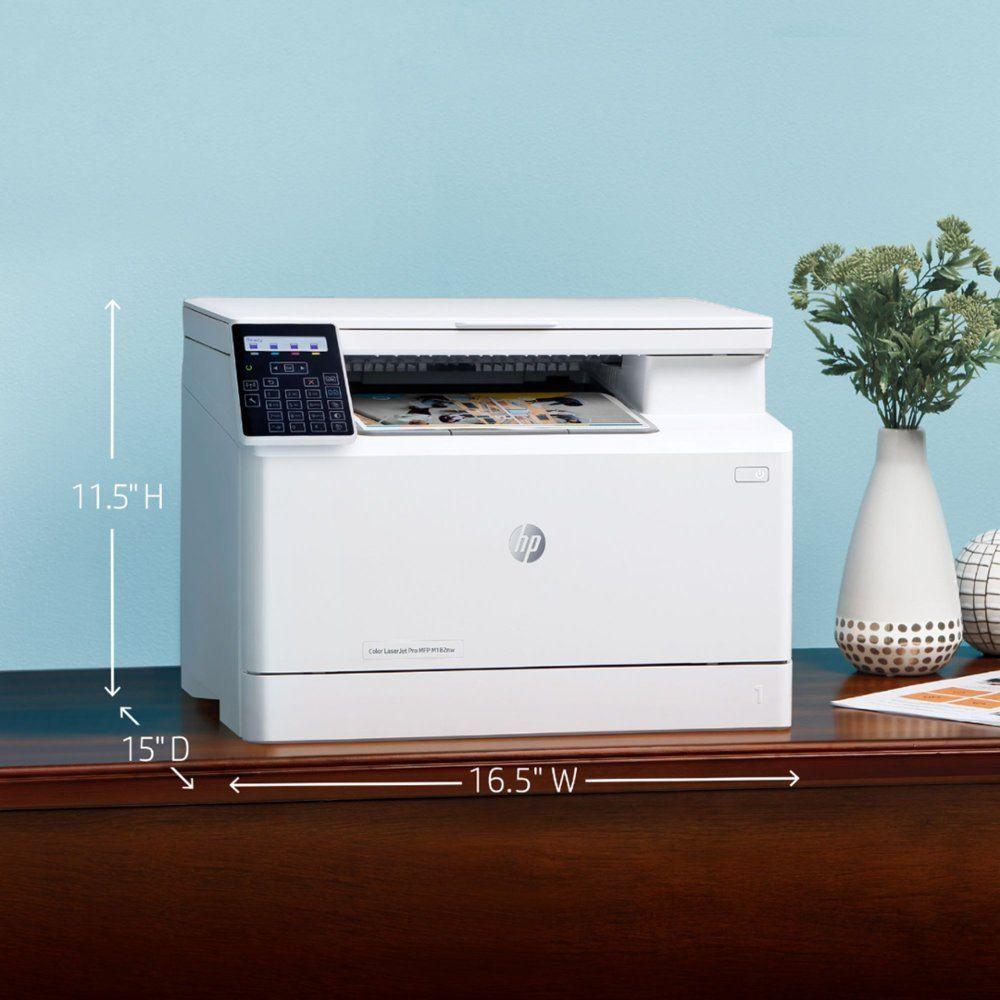 Hp Laserjet Pro Mfp M182nw Wireless Color All In One Laser Printer 7kw55a Bgj M182nw Best Buy In 2020 Laser Printer Mobile Print Printer