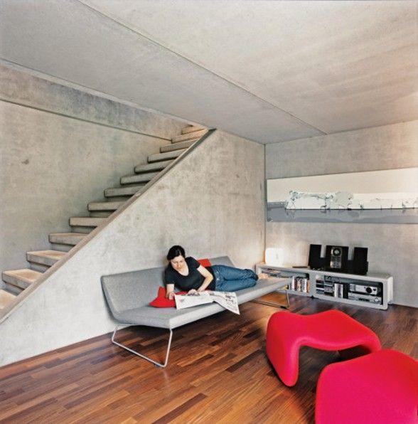 Decoration: Modern Minimalist Prefab Stairs, Prefab Wood Stairs  Prefabricated Metal Stairs