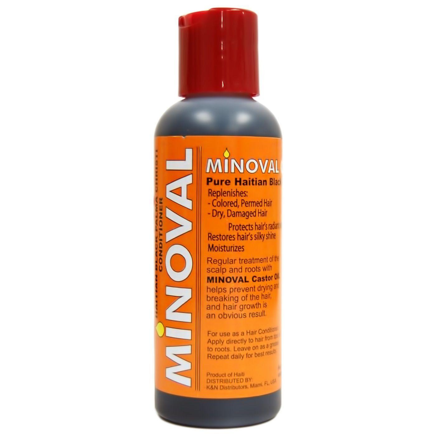 Minoval Pure Haitian Black Castor Oil 5oz Hair Growth Products
