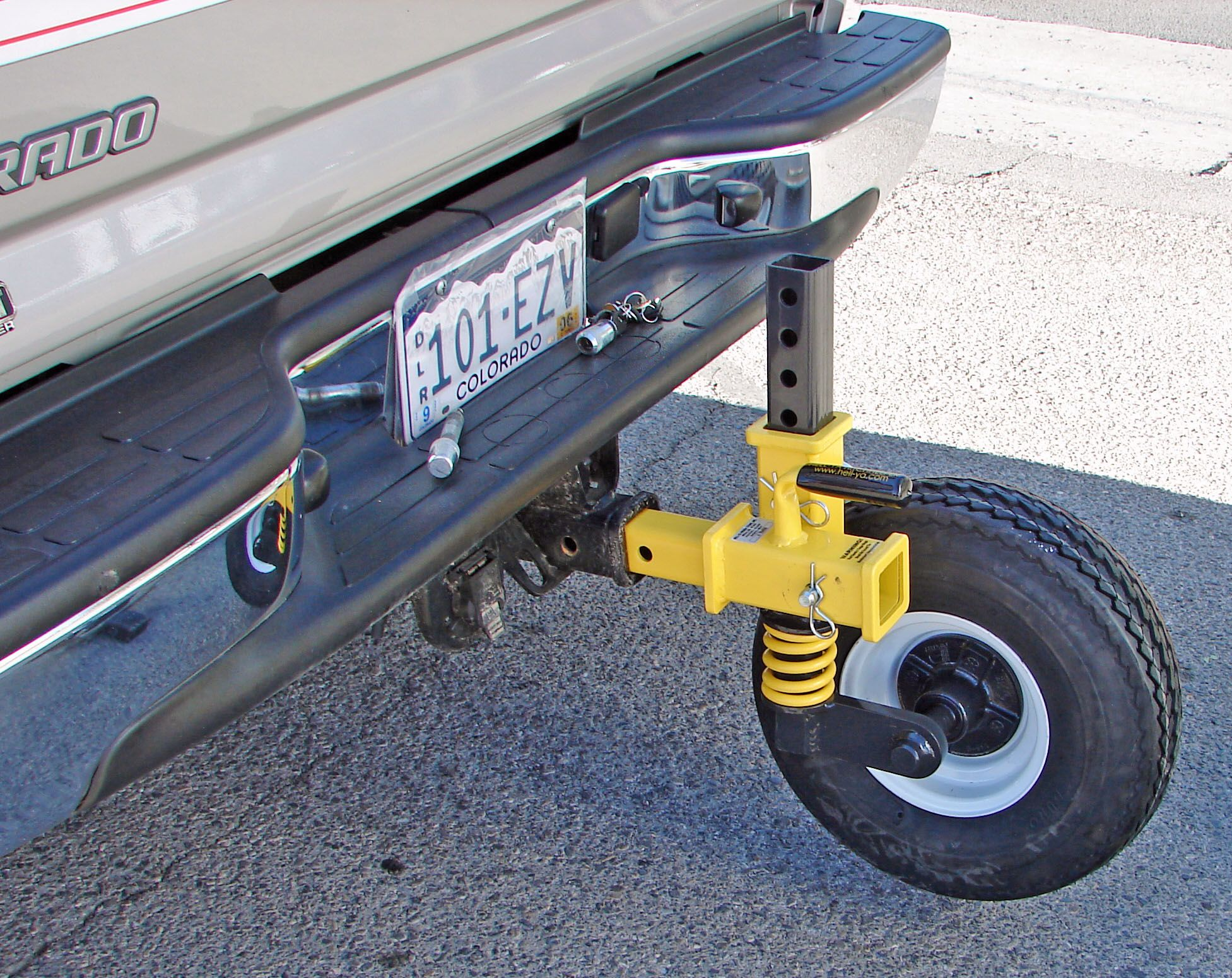 Fifth Wheel Truck Bumper : Trailer hitch dolly helper designed for bumper pull