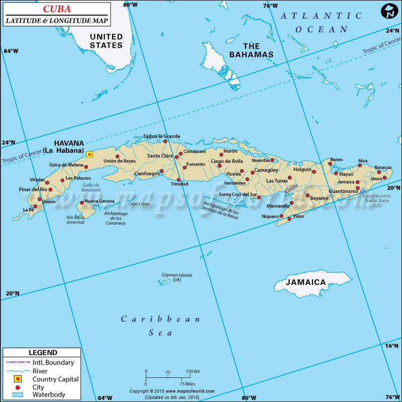 Cuba Latitude And Longitude Map CUBA HOLIDAY Pinterest City - Japan map latitude and longitude