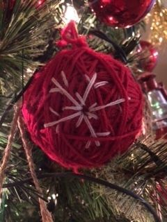 yarn ornament