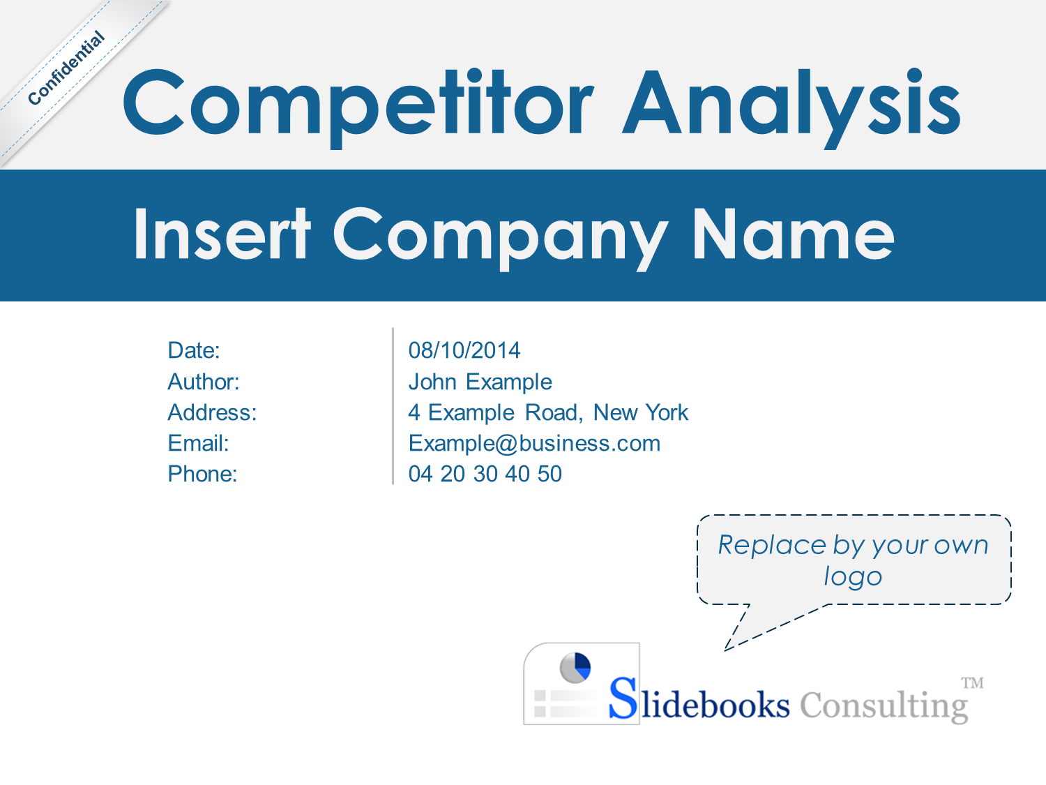 Market & Competitor Analysis Template Business plan