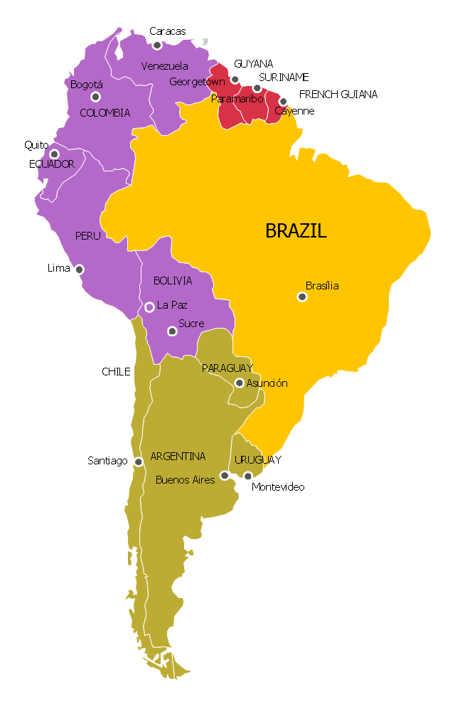 South america political map y brazil p andean r guianas g south america political map y brazil p andean r guianas gumiabroncs Image collections