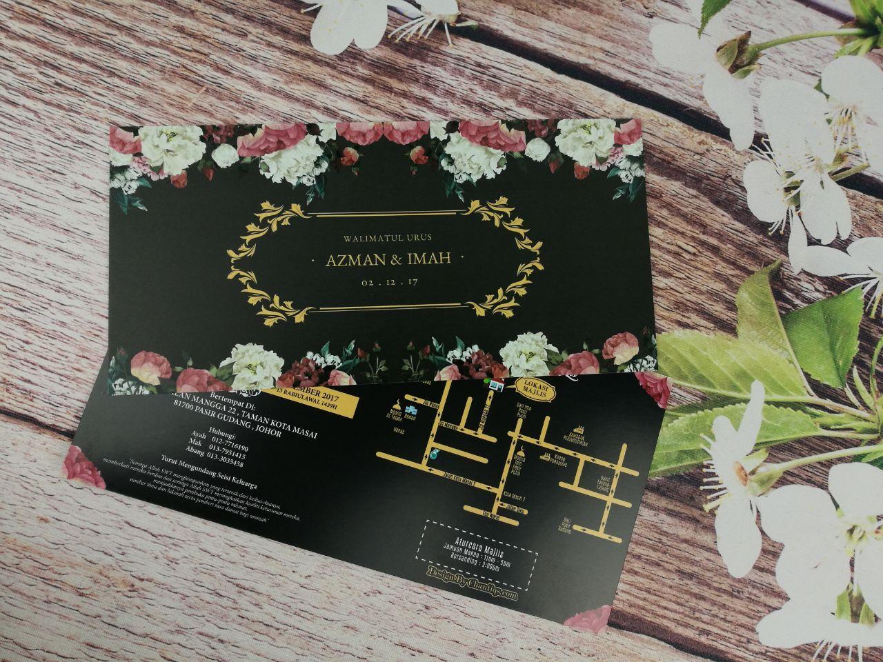Kad Kahwin Floral 70 Bunga Kad Kahwin Klasik Kad Kahwin Floral Kad Kahwin Design Kad Kahwin Malaysia Kad Kahwin V Kad Kahwin Kad Kahwin Design Floral