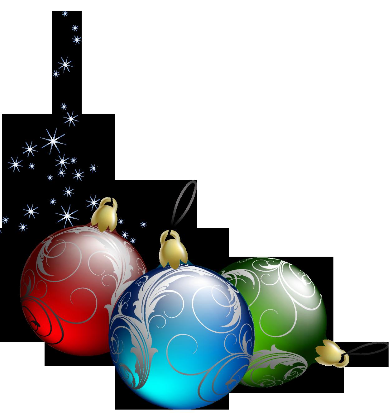 Christmas Bulbs Clip Art