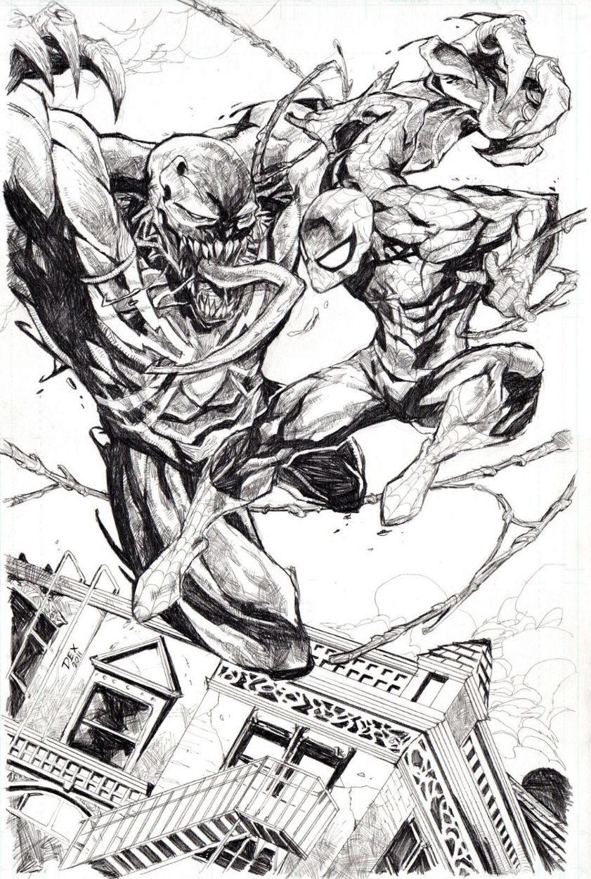 Spider-Man vs. Venom by Dexter Soy | BOCETOS | Pinterest | Cómics ...