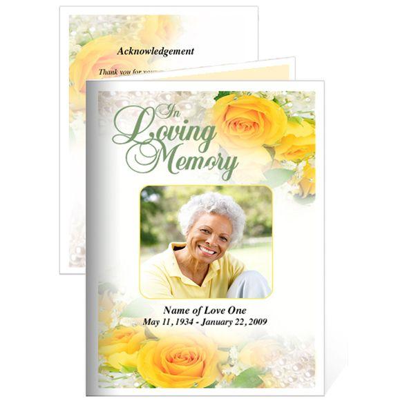 Memorial Cards  Joyful Small Funeral Card Template Aliyah - funeral cards template