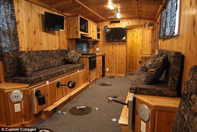 Inside the decked-out shanties of the Midwest's ice