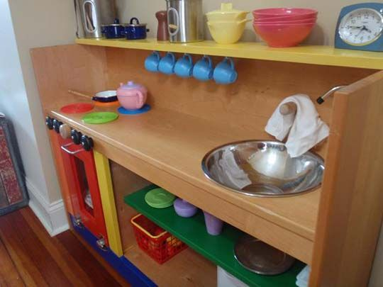 play kitchen - I would really rather upcycle a play kitchen for my son than buy him one.  Getting lots of great ideas on here!