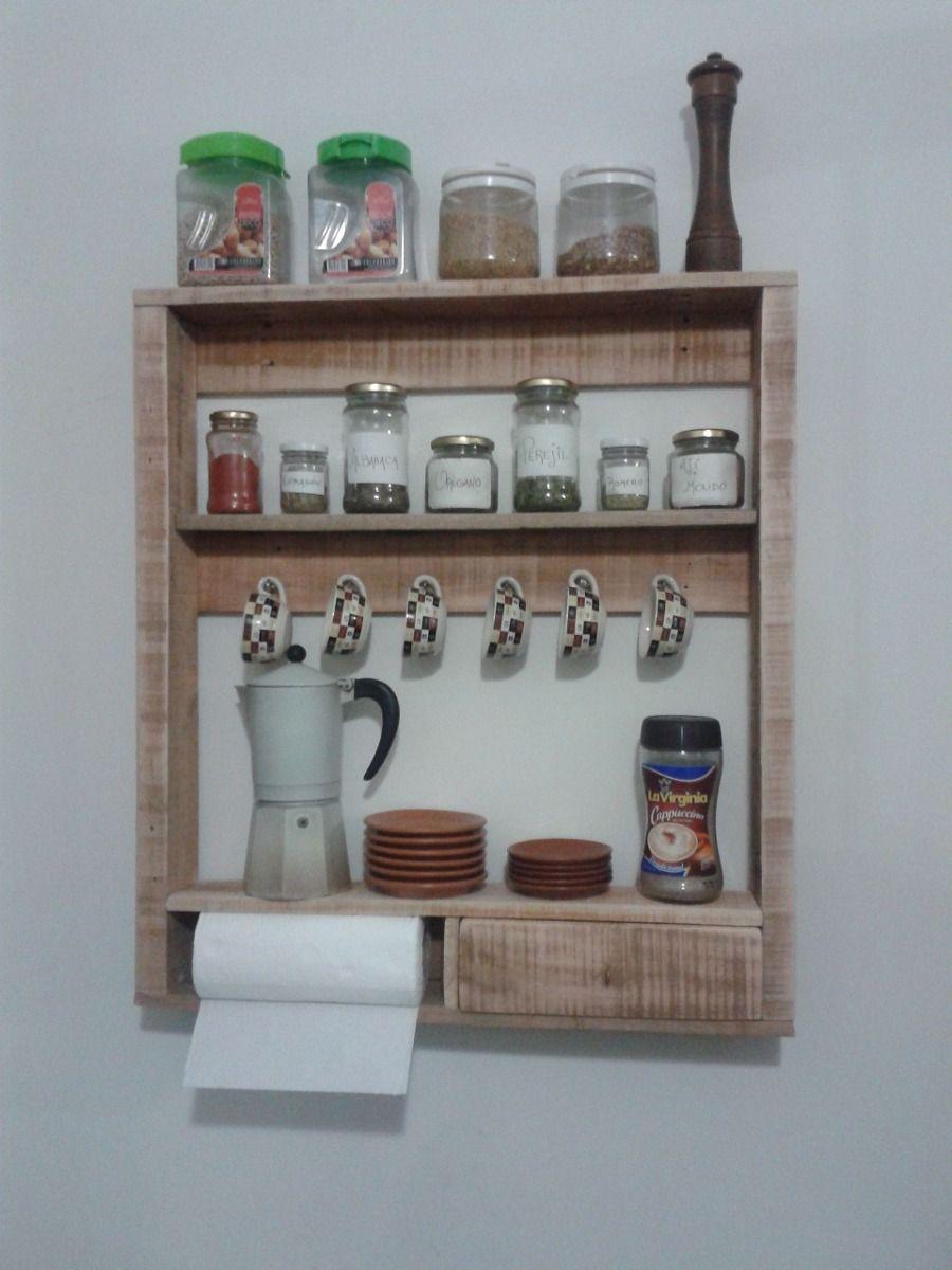 Alacena de madera de pallets reciclados cr ations avec des 39 39 palettes 39 39 pinterest alacena - Alacenas de madera para cocina ...