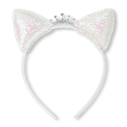 6617c1c045de3 Girls Glitter Princess Cat Ears Headband