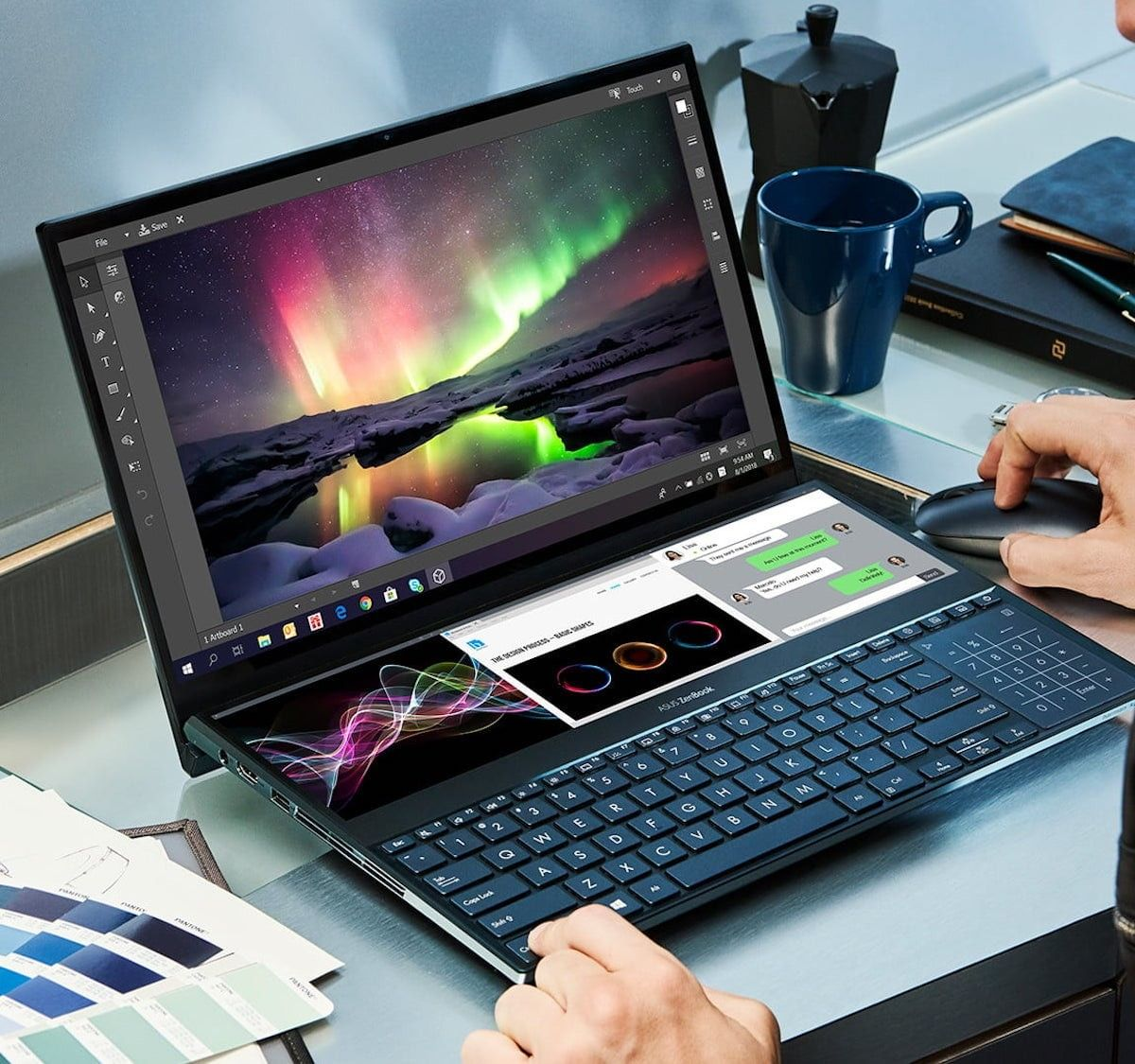 Asus Zenbook Duo 2 Display Laptop Features A Full Width Secondary Touchscreen Asus Asus Laptop Best Laptops
