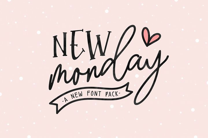 Download New Monday | Font Pack
