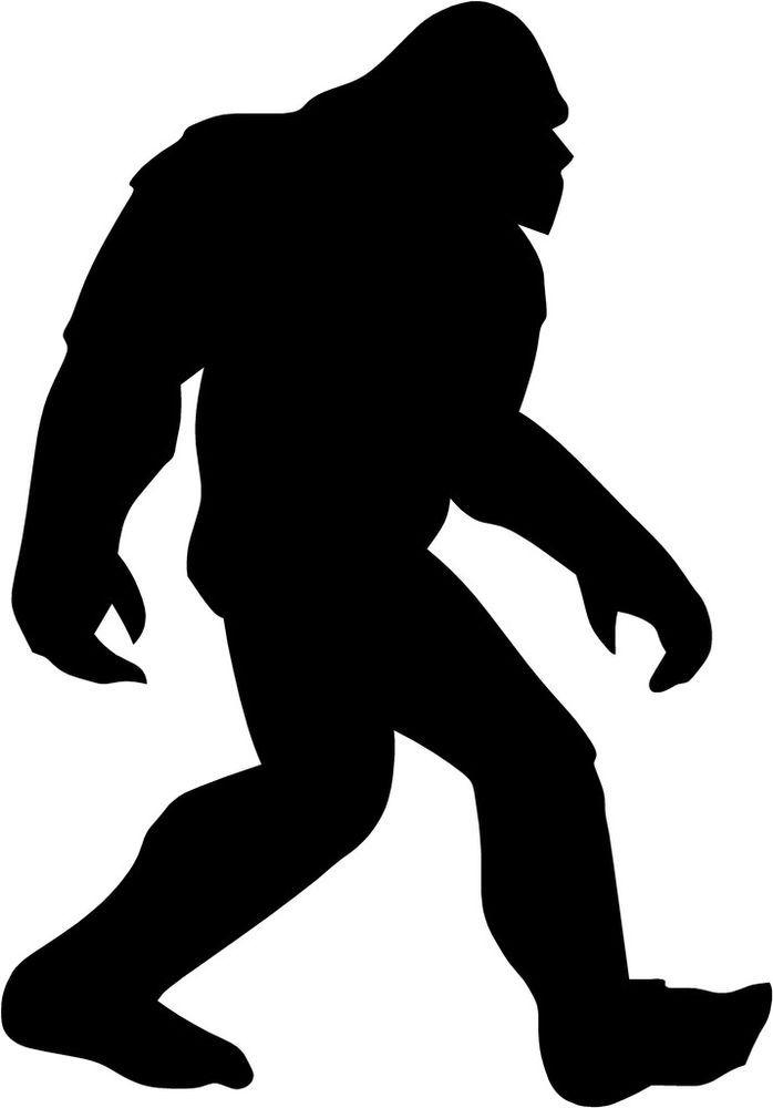 An Outline Tattoo Of Bigfoot