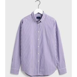 Gant Oversized Tech Prep™ Gestreifte Broadcloth Bluse (Lila) GantGant #oversizedknitsweaters