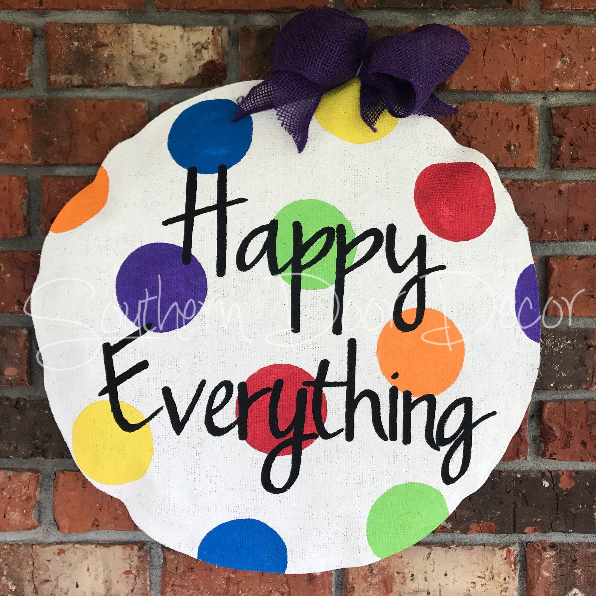 Happy Everything Door Hanger Website Door Decorations Happy Everything Burlap Door Hangers