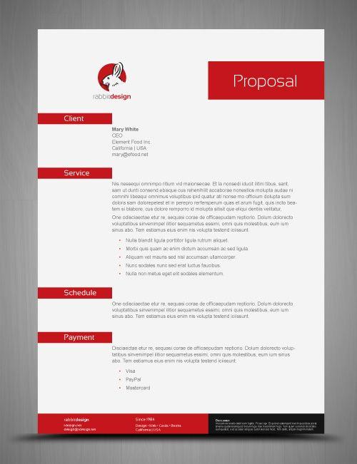 Billing Proposal Template Cool Resumes Proposals Pinterest