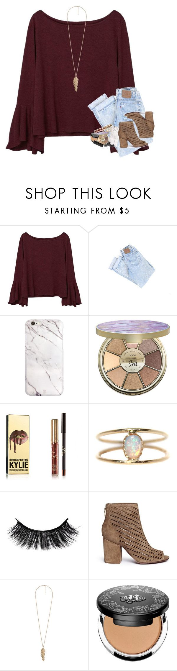 """i'm in love with the shape of you"" by mehanahan ❤ liked on Polyvore featuring MANGO, tarte, LUMO, Ash, Forever 21, Kat Von D and NARS Cosmetics"