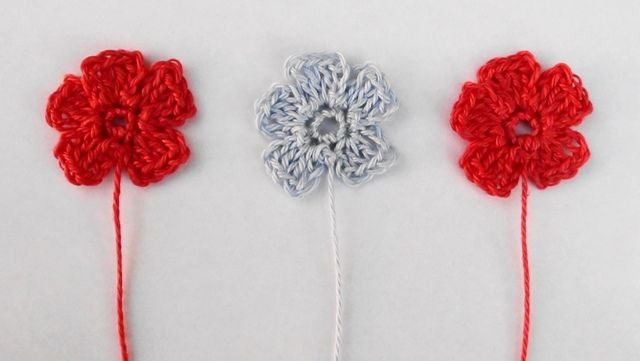 How To Crochet A Small Flower Video Tutorial And Pattern At Http