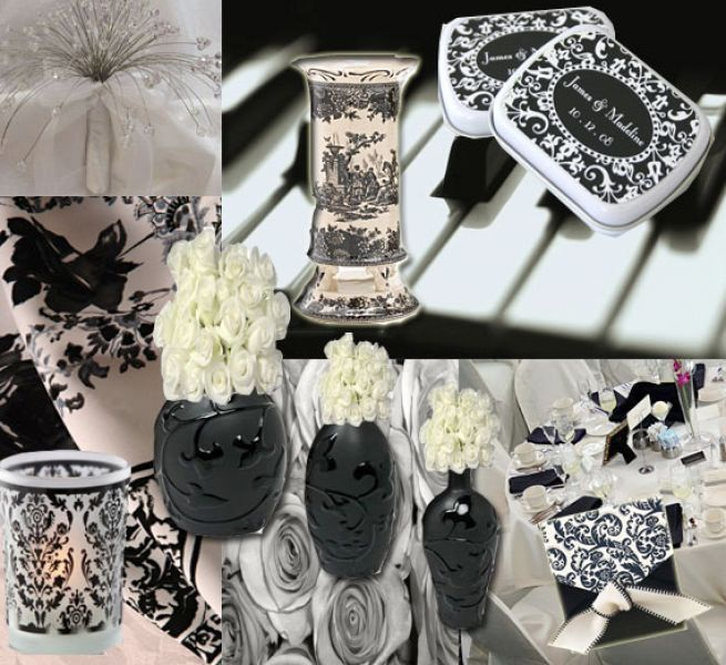 Bridal Shower Ideas Black And White Wedding Centerpieces Ideas Pictures 2
