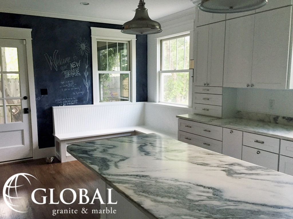 Natural Stone Kitchen Floor Arabescato Montclair Danby Marble Counters With White Cabinets