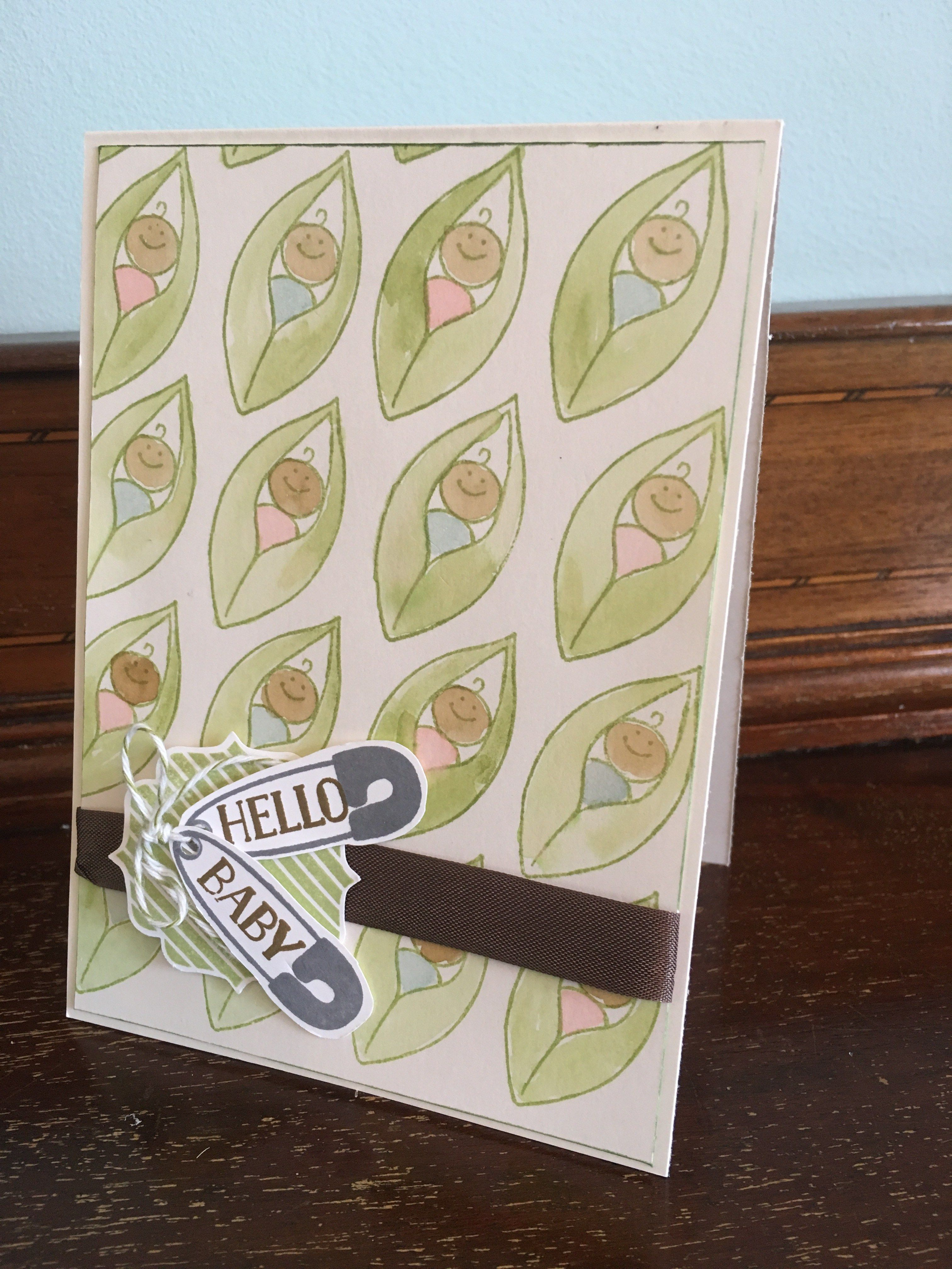 Baby Shower Stampin Up Friends And Flowers Stamp Set