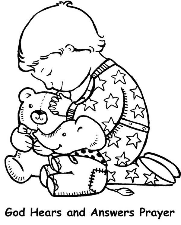 Lords Prayer, : Lords Prayer and Have Faith Coloring Page