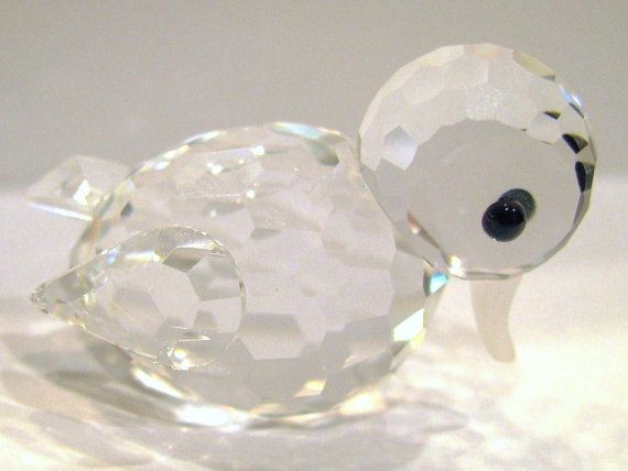 Vintage Swarovski Crystal Mini Duck Swimming