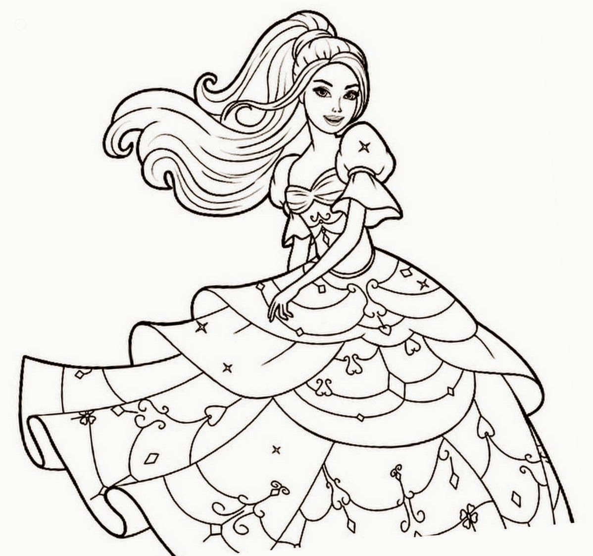 nice Barbie Coloring Colour Drawing Free Wallpaper Check more at