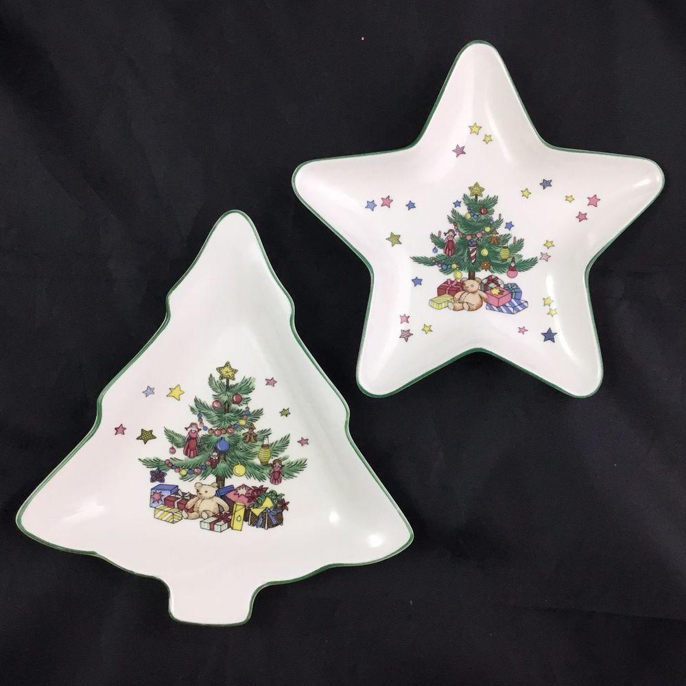 Happy Holidays by Nikko Christmas Tree Star and Tree Candy Dish Set ...