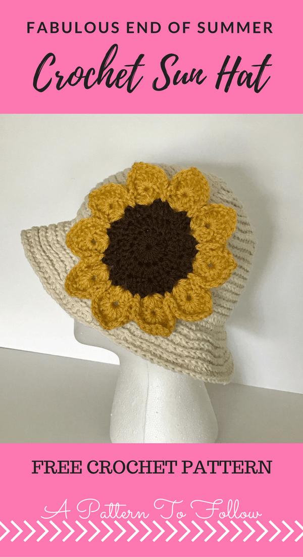 Fabulous End Of Summer Crochet Sun Hat Crochet Hats Pinterest