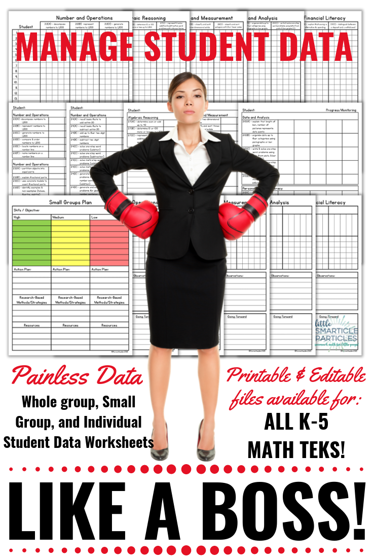 Student Data Doesn T Have To Be Hard Data Worksheets For All Math Teks For Grades Kinder Through 5 Math Teks Student Data Data Collection Special Education [ 1104 x 736 Pixel ]
