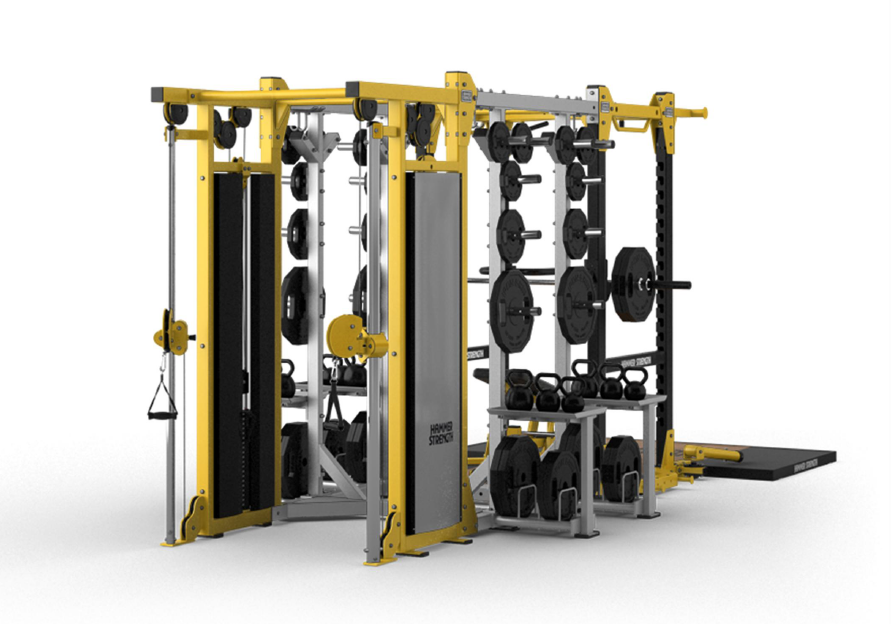 Hammer strength ultimate rack custom configuration cable side