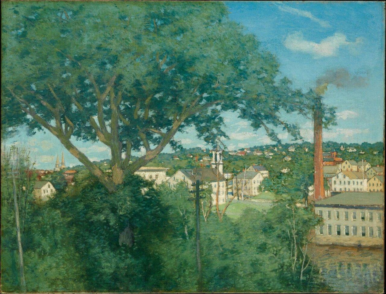 The Factory Village - Julian Alden Weir  1897