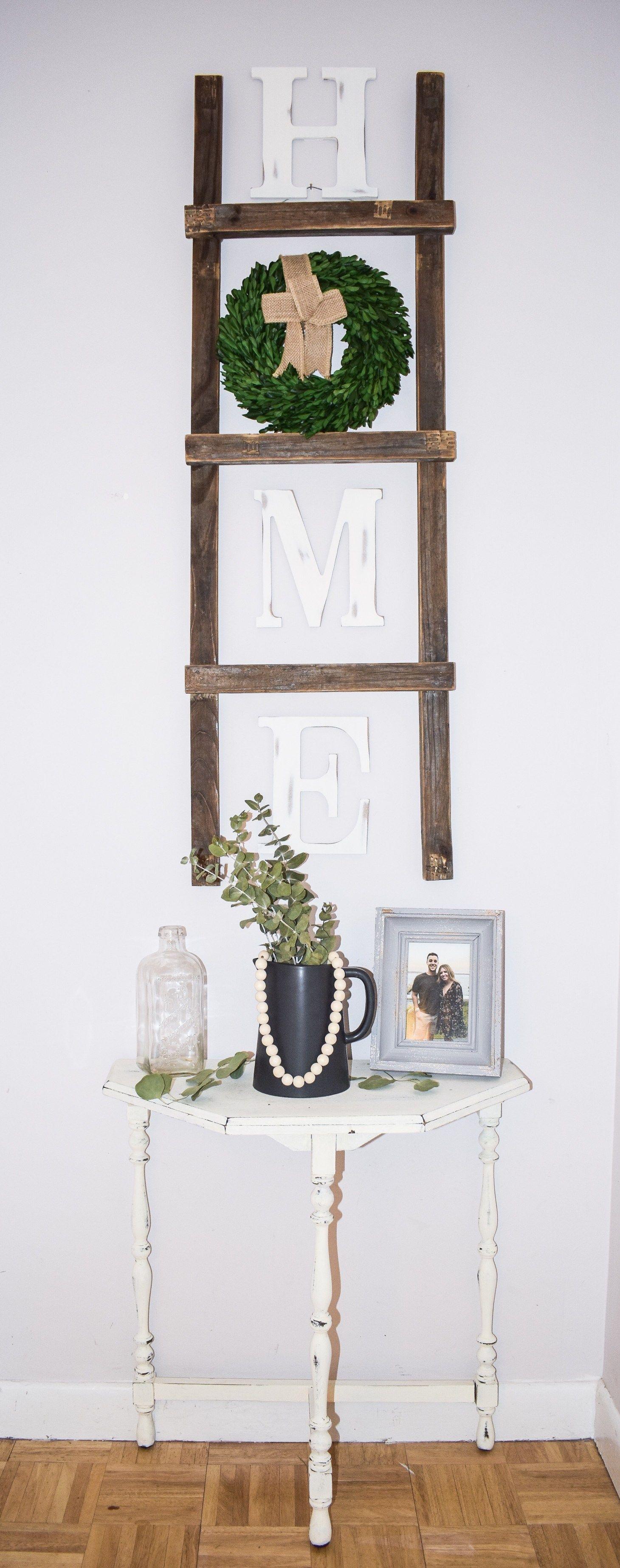 Diy home sign with wreath home diy diy farmhouse decor