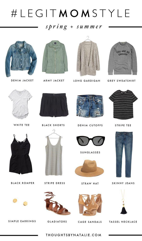 Spring Capsule Wardrobe: Legit Mom Style: Spring & Summer Mini Capsule
