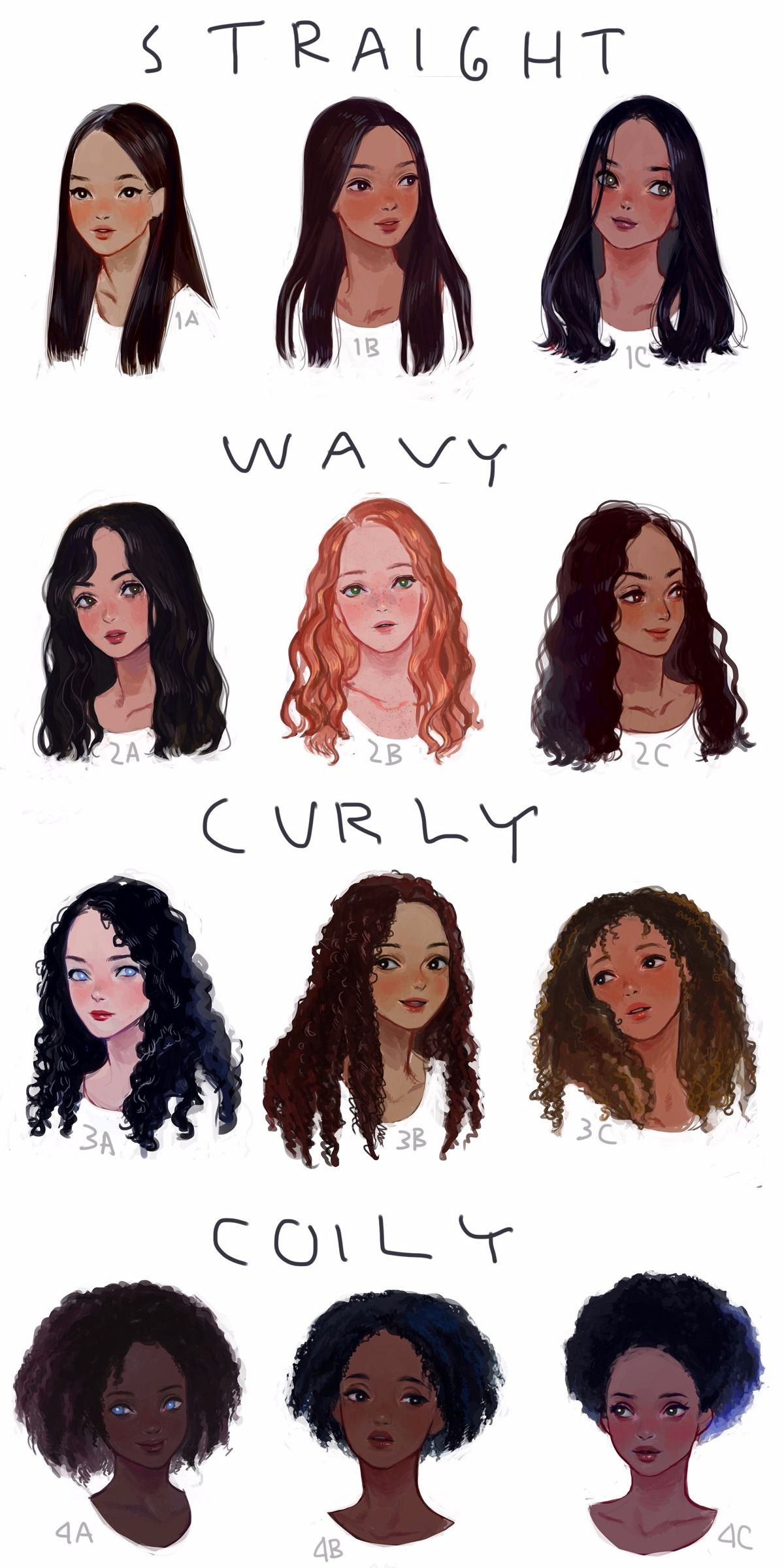 different kind of hair style eafrns i drew a visual hair type classification guide i 7130 | 6b7120e9bb3646cacbd7dc5c8c0515c5