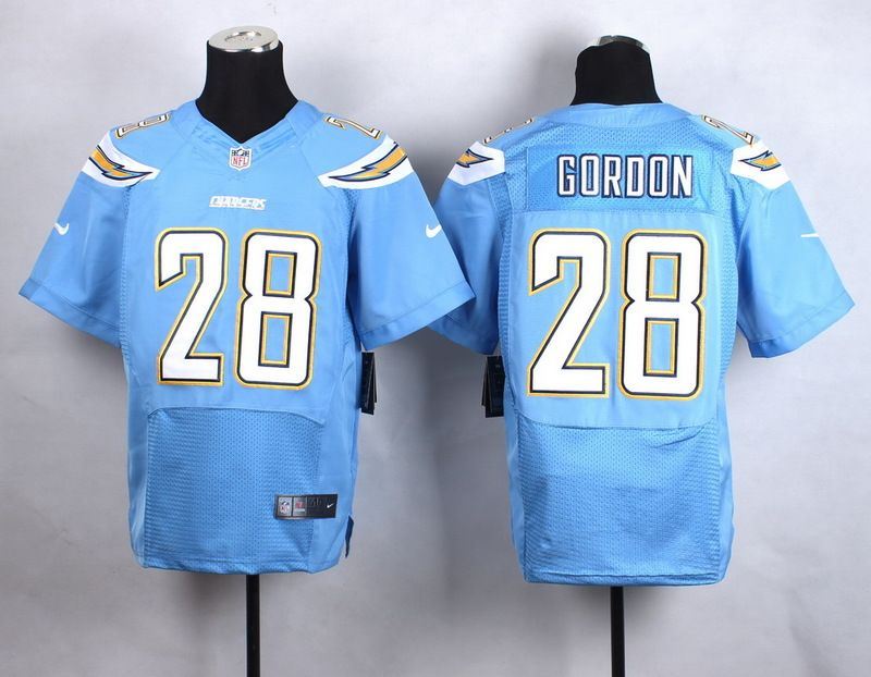 Men's San Diego Chargers #24 Brandon Flowers 2013 Nike Light Blue Elite Jersey