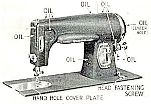 Manual to the machine in the antique cabinet. Model 117