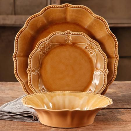 I\'d love these for Thanksgiving ~ The Pioneer Woman Paige 12-Piece ...