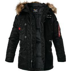 Photo of Alpha Industries Men's Parka Jacket, Nylon, Black Alpha Industries Inc.Alpha Industries Inc.