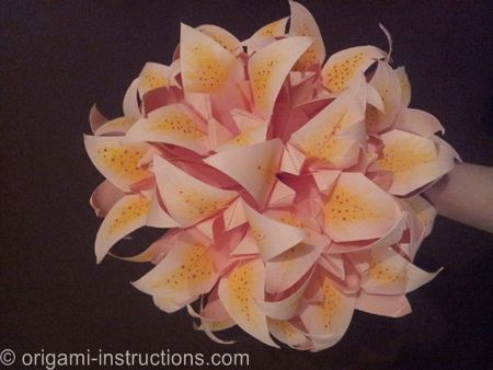 Bouquet of Origami Lilies