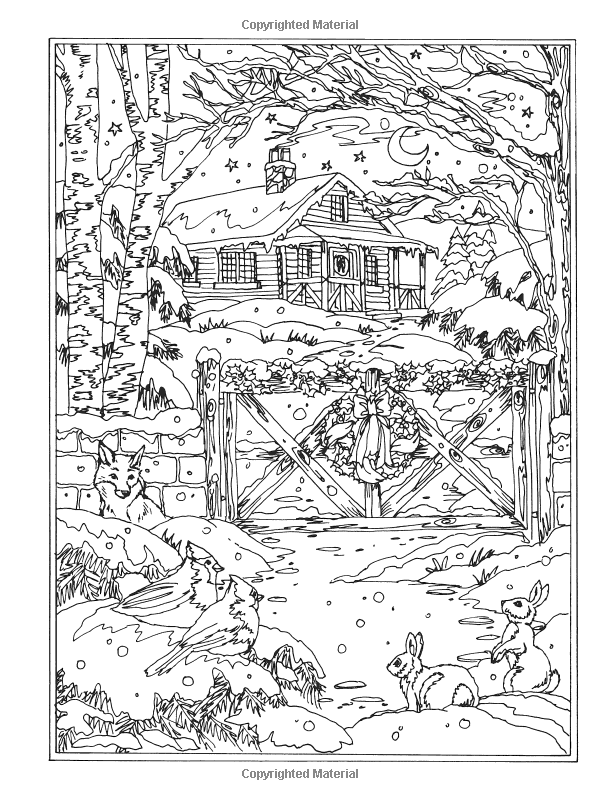 Amazon.com: Creative Haven Winter Wonderland Coloring Book (Adult ...