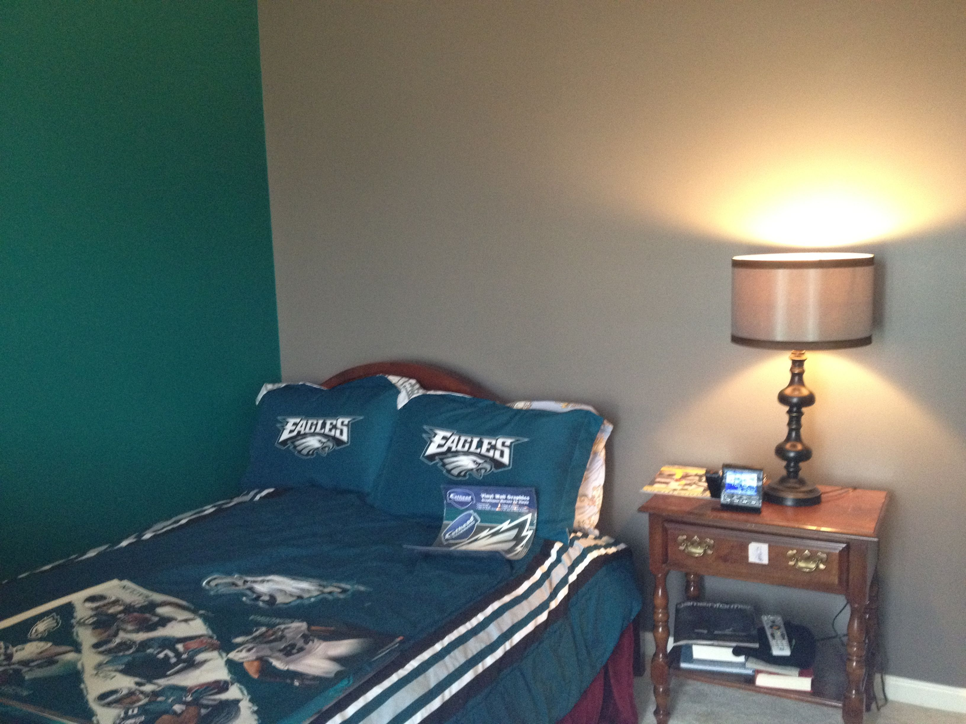Philadelphia Eagles Room, Green U0026 Grey Boys Room