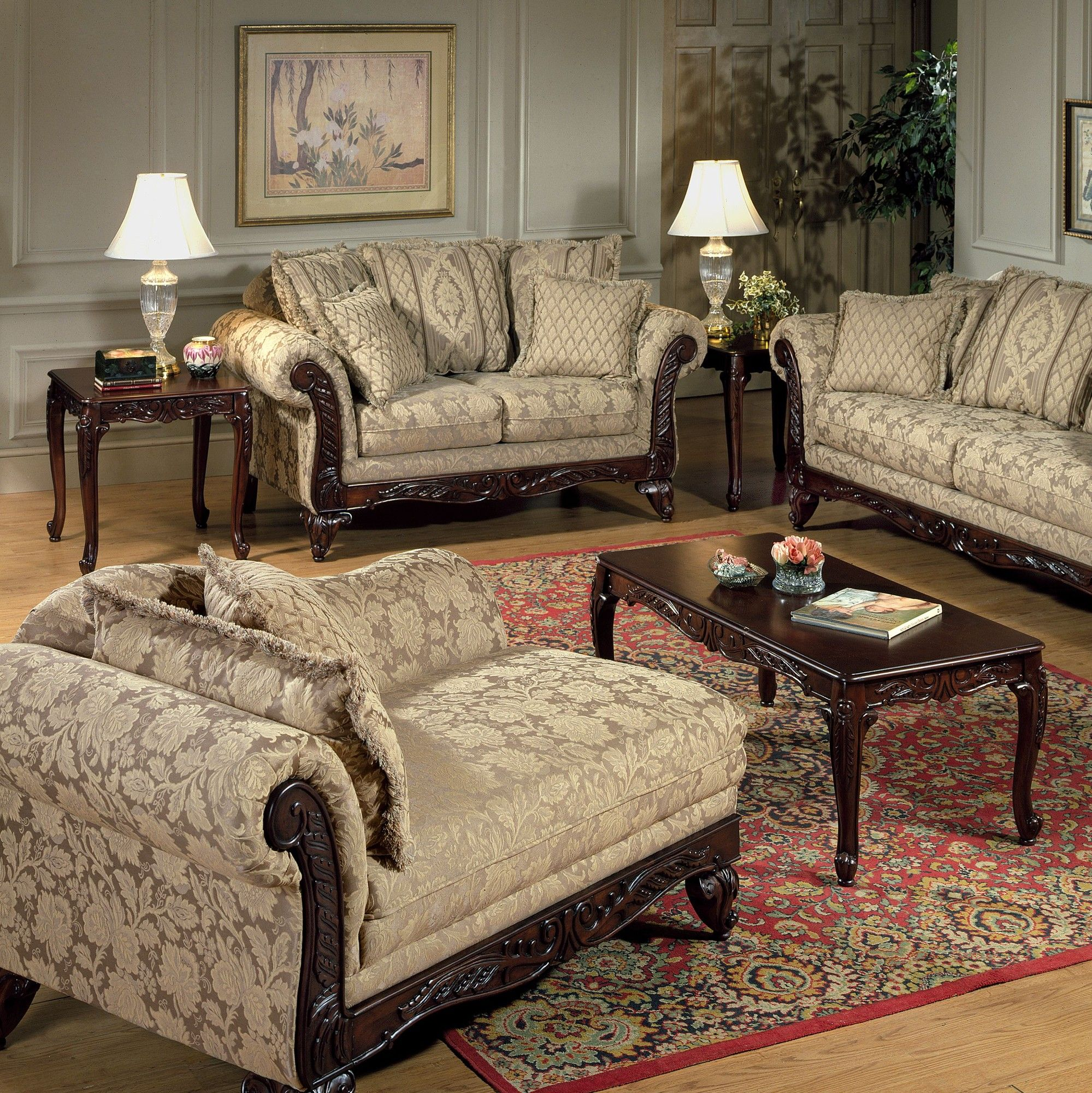 Serta Upholstery King Henry 3 Piece Coffee Table Set