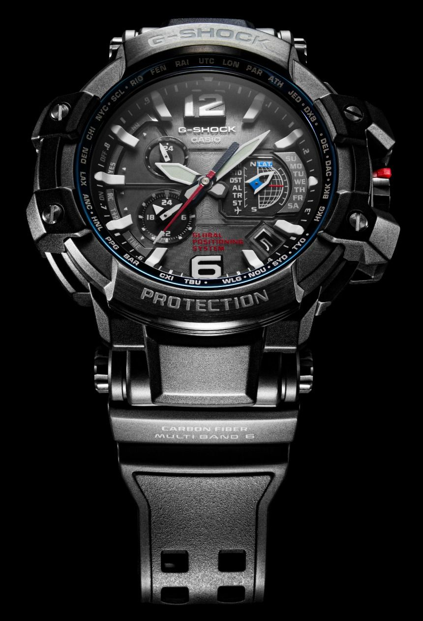Casio G Shock Gpw1000 Is First Watch To Combine Gps Atomic Clock Radio Time Syncing Ablogtowatch Casio G Shock Watches G Shock Casio G Shock