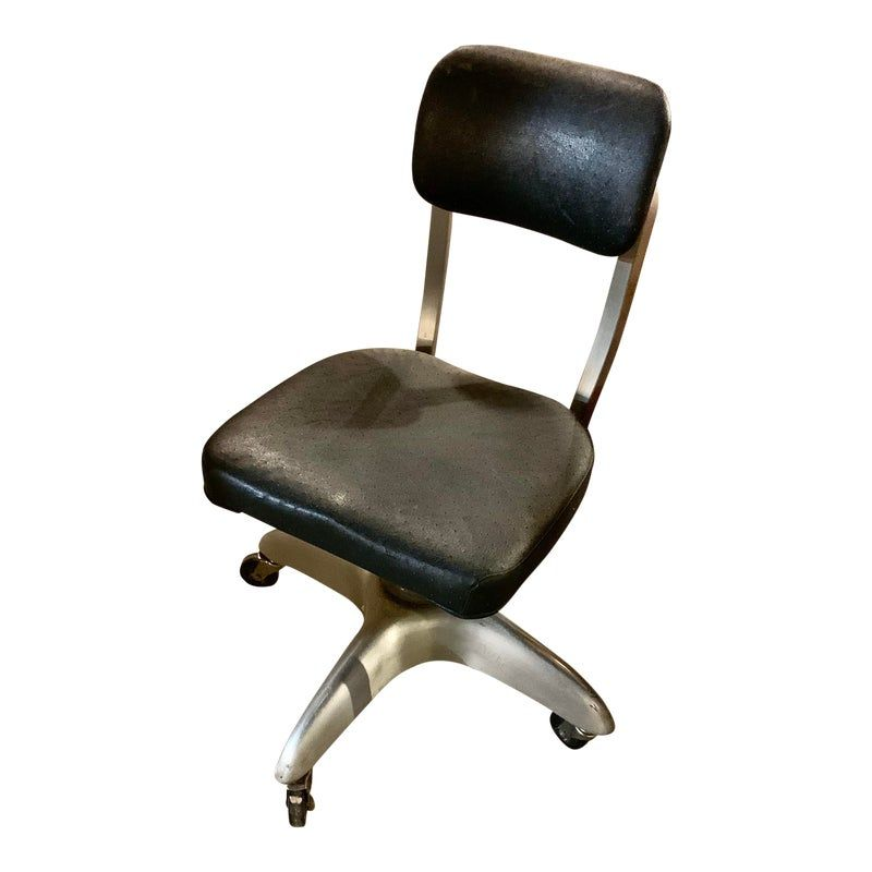 Good Form Industrial Tanker Aluminum Office Chair Vintage Office